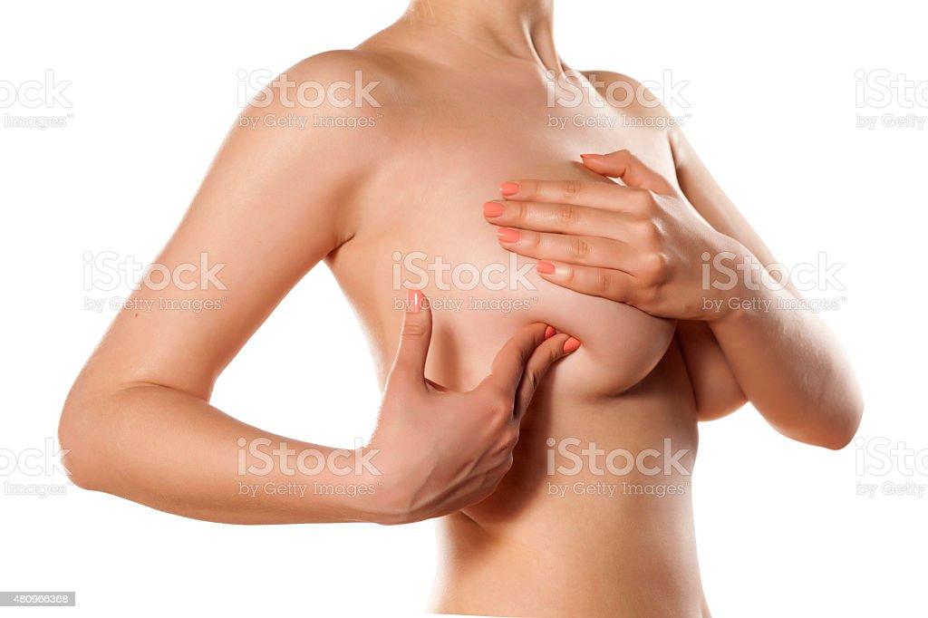 breast self-exam stock photo