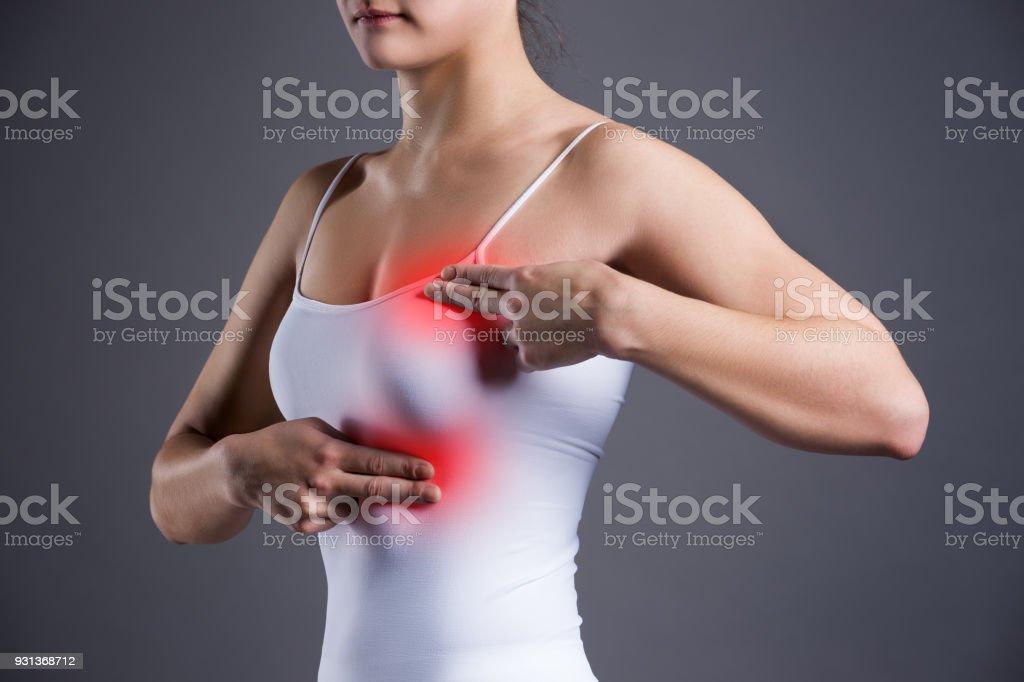 Mama en dolor muscular la