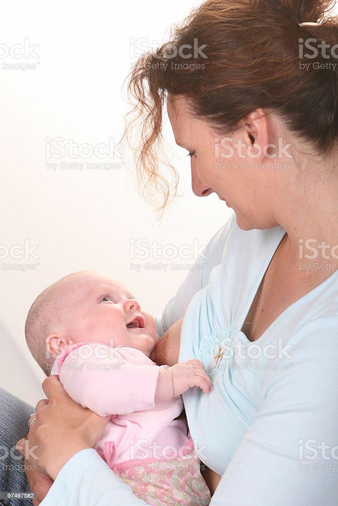 Breastfeeding royalty-free stock photo