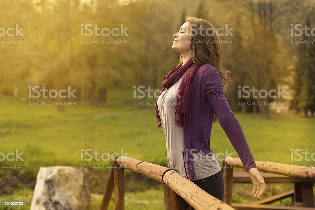 Breath of the Sun stock photo