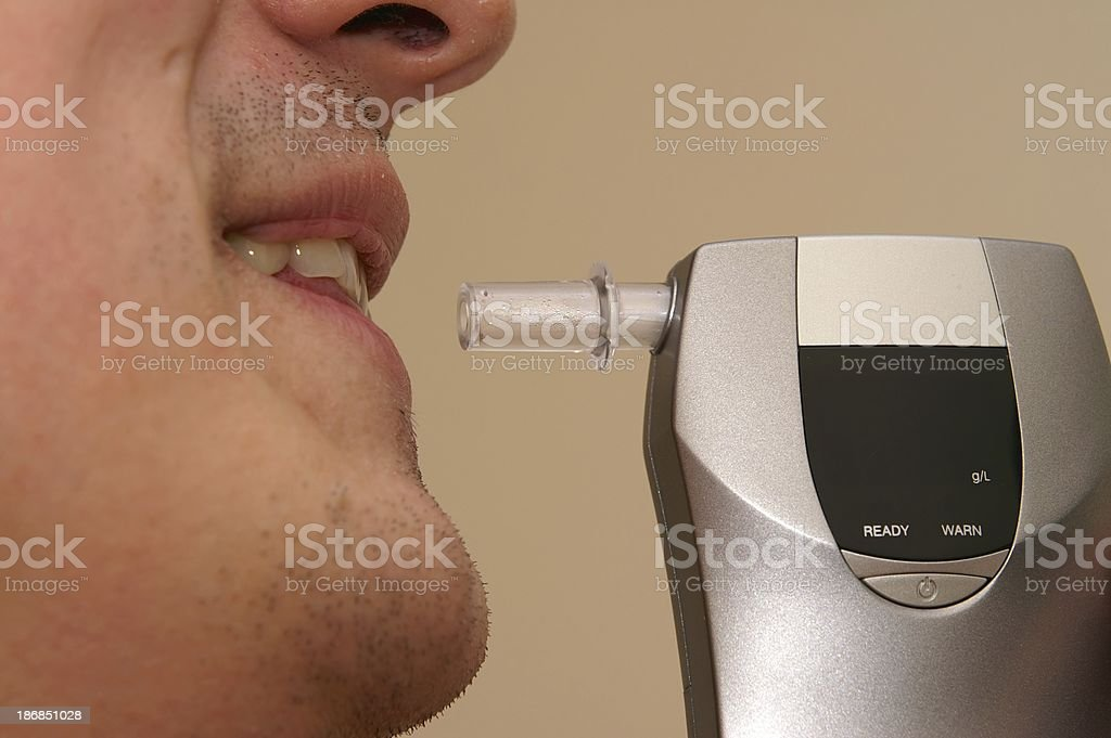 breathalyser stock photo