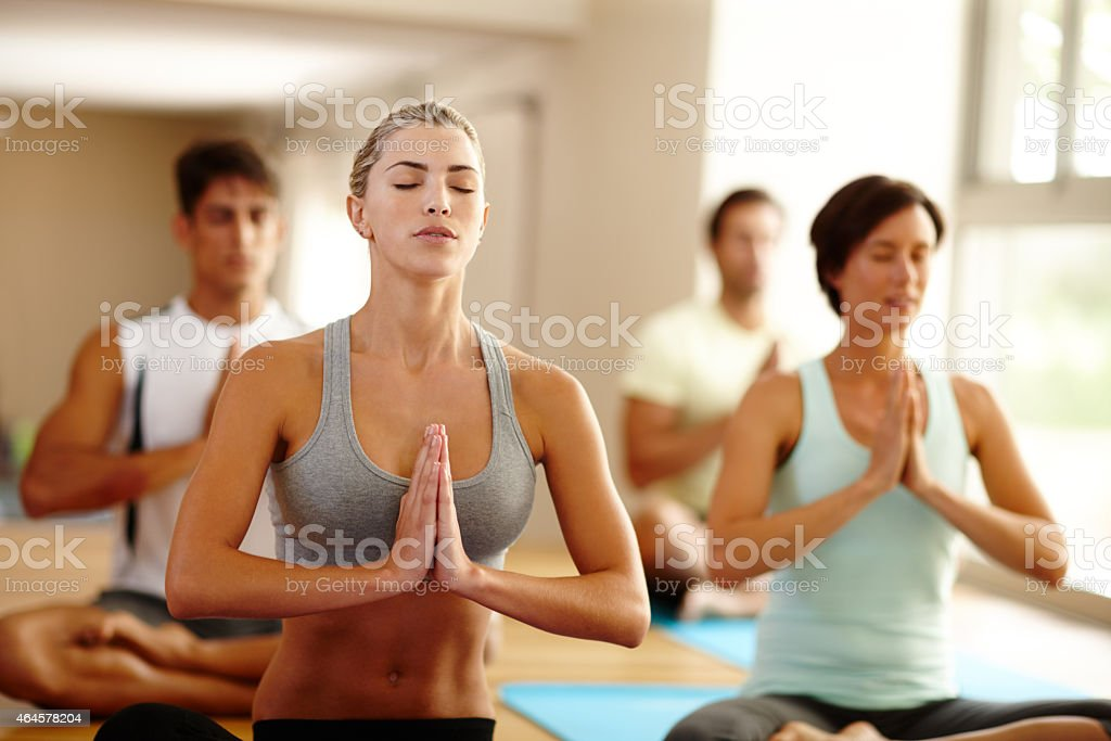 Breathe in... breathe out... stock photo