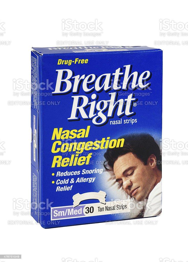 Breathe Right Nasal Strips Box royalty-free stock photo