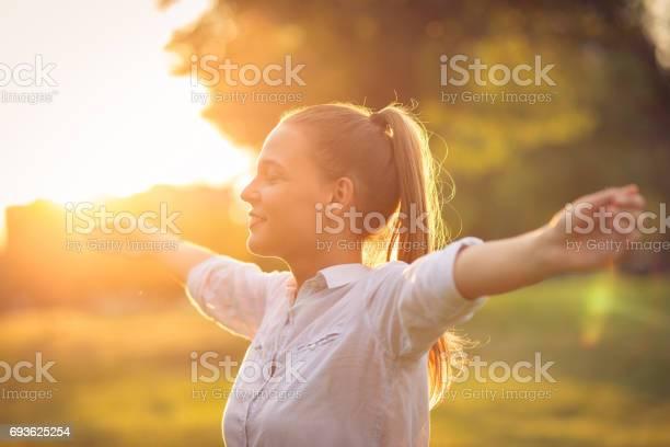 Breathing exercise in nature in sunset picture id693625254?b=1&k=6&m=693625254&s=612x612&h=myawkg4c1mkioqfbnhntaubephjtk8gsahwixnlckto=