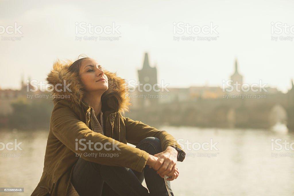 Breathing fresh morning air foto royalty-free