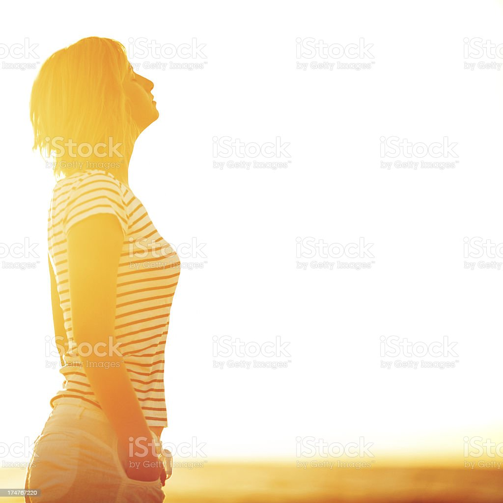 Breathing in royalty-free stock photo