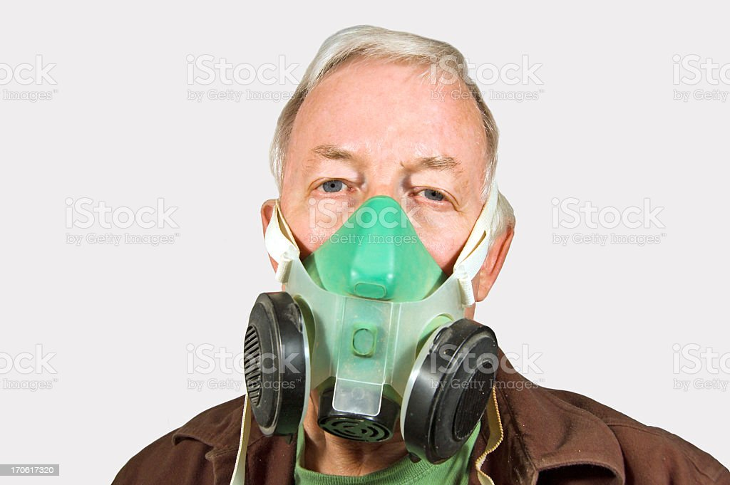 Breathing Safely...Its Come to This? stock photo