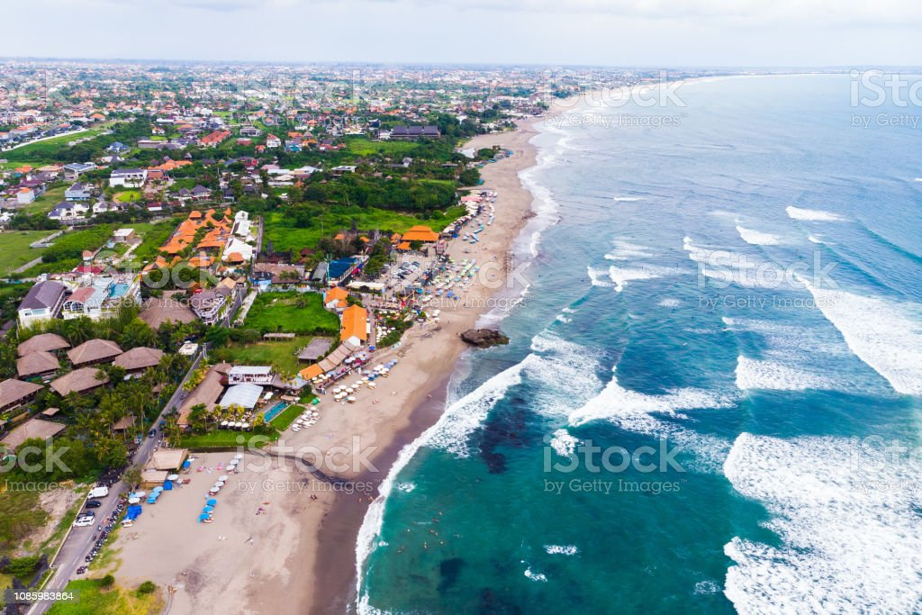Breathtaking Aerial View Of The Tourist And Resort Beach