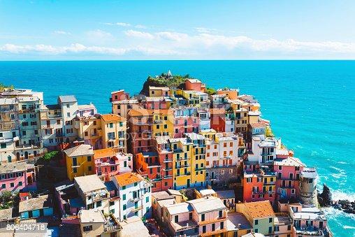istock Breathtaking Cinque Terre village, Manarola, Italy 806404718