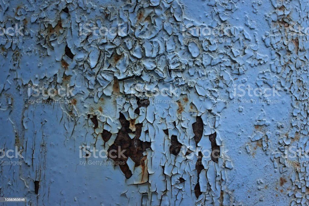 breathtaking grunge texture with non-smooth surface blue light paint...