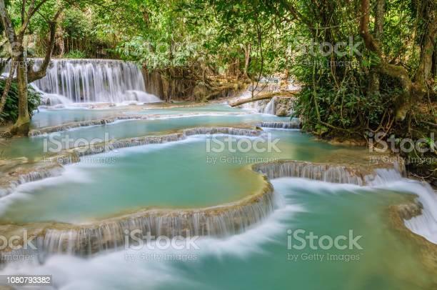 Photo of Breathtaking Kuang Si Waterfall Cascades, Luang Prabang, Laos