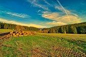 breathtaking landscape in Thuringia
