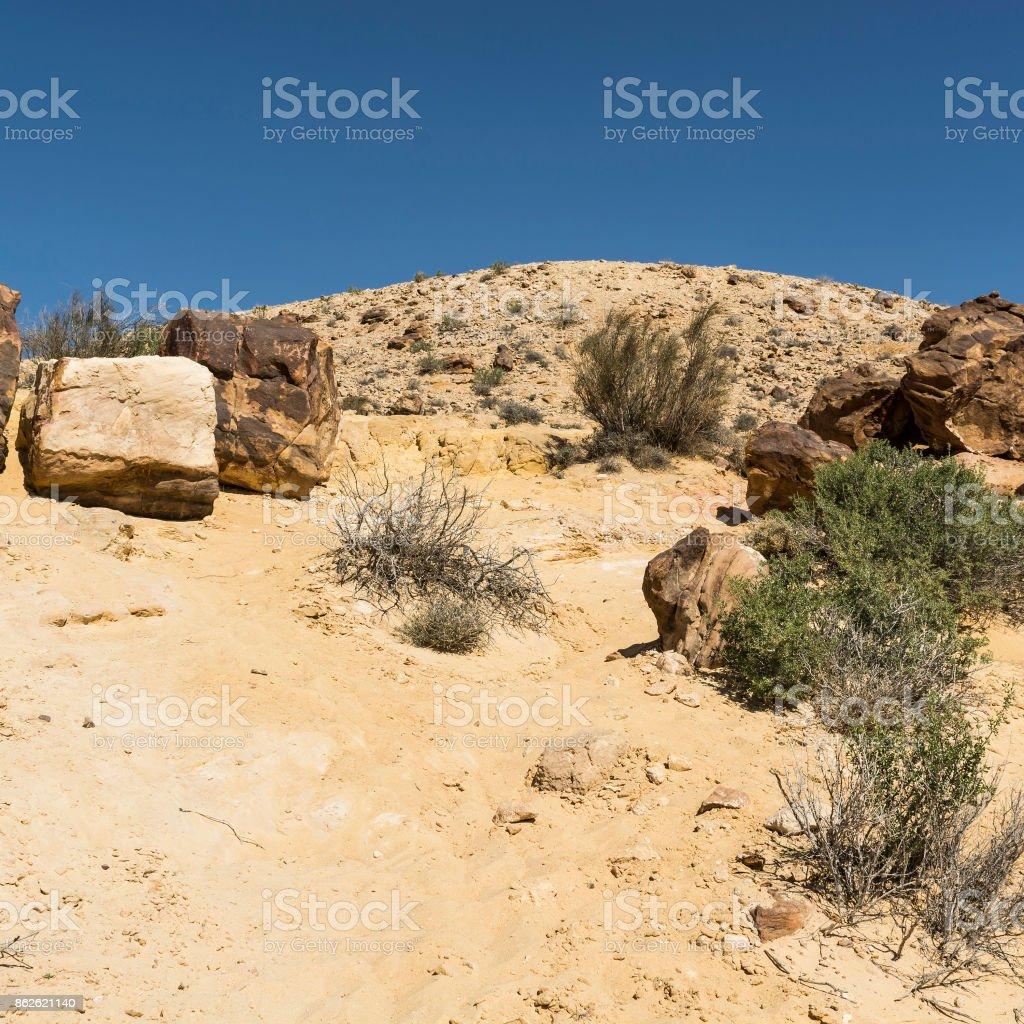 Breathtaking landscape of Israel stock photo