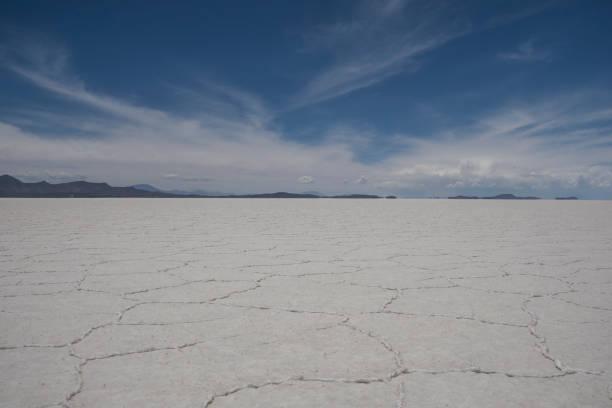 Breathtaking Salar de Uyuni of the Atacama Desert in Bolivia South America stock photo