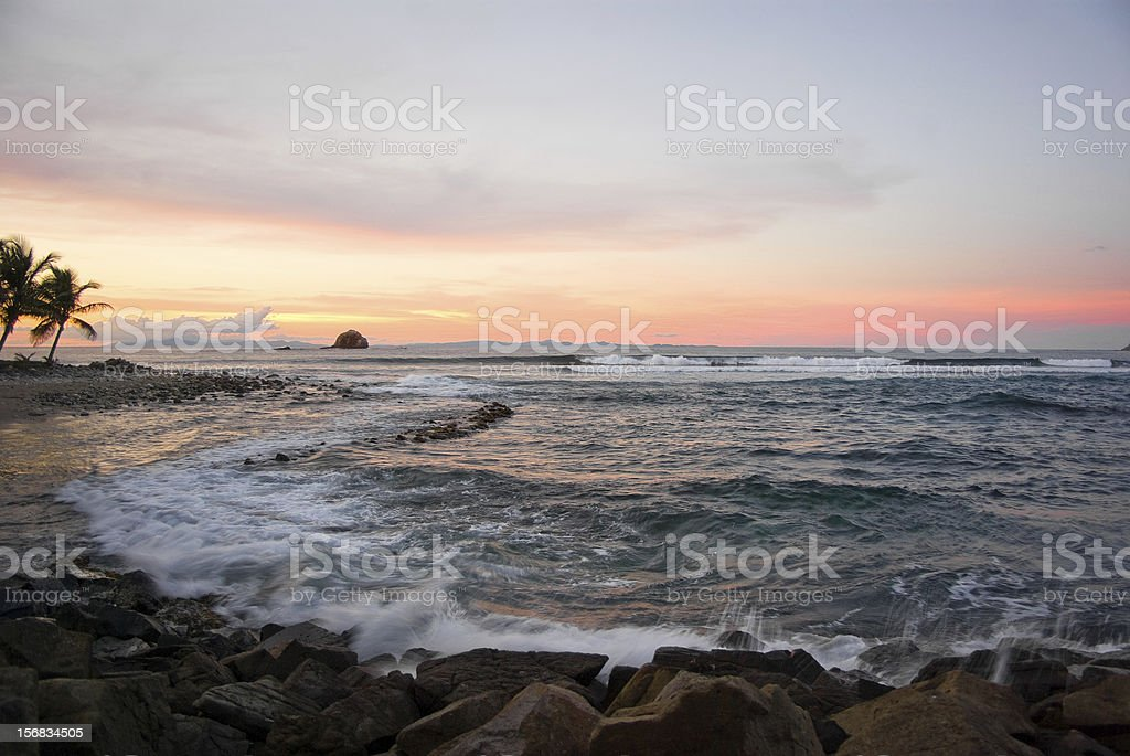 breathtaking seascape at sunset royalty-free stock photo