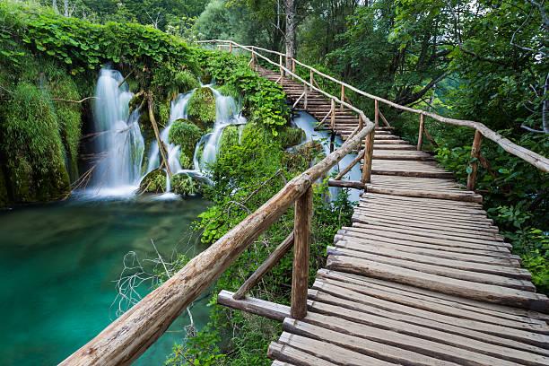 Atemberaubende Aussicht auf den Nationalpark Plitvicer Seen .Croatia – Foto