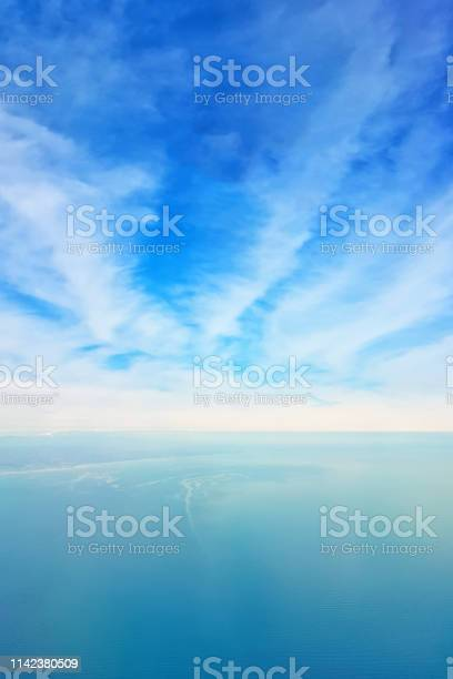 Photo of Breathtaking view of the sky and clouds from the window of a flying plane