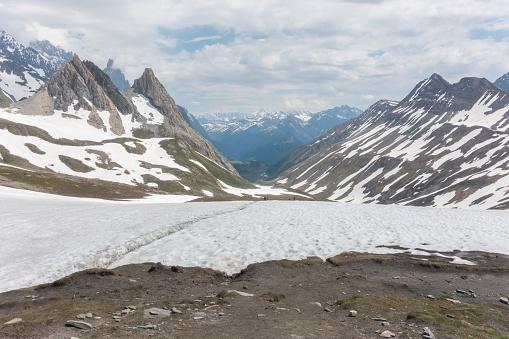 istock Breathtaking views from Col de la Seigne on French-Italian border 1190786146