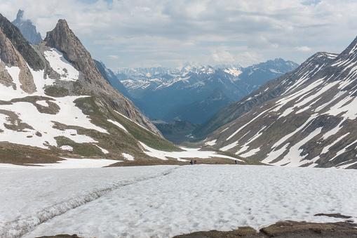 istock Breathtaking views from Col de la Seigne on French-Italian border 1190786604