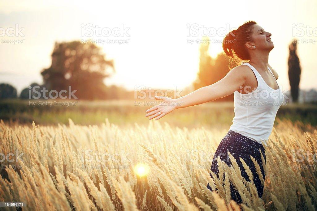 Breating fresh air royalty-free stock photo