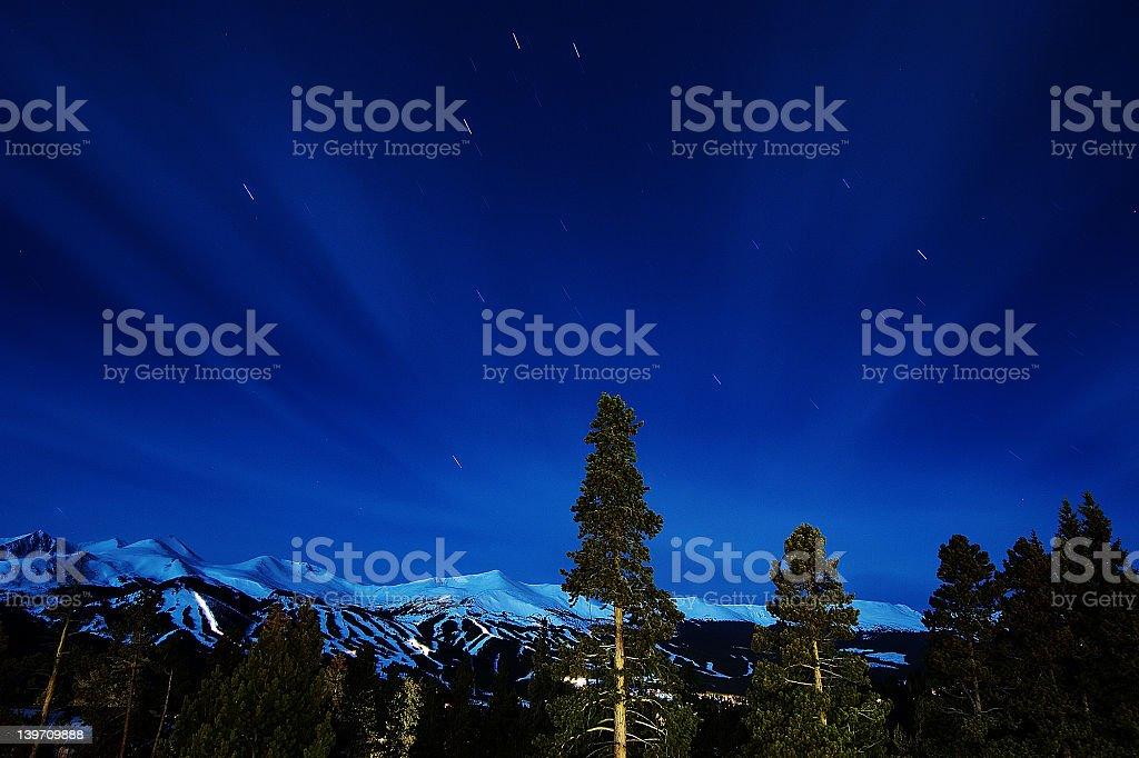 Breckenridge Colorado 1 am stock photo