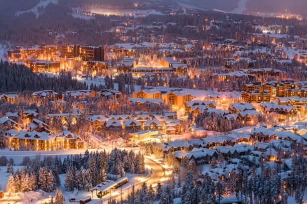 Breckenridge, Colorado, USA in Winter stock photo