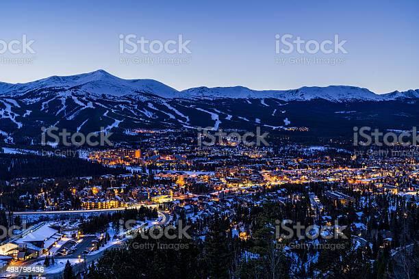 Photo of Breckenridge Colorado Winter Dusk Ski Runs