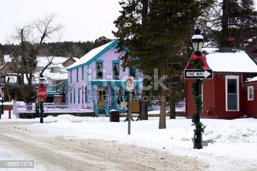 Homes in the ski town of Breckenridge.