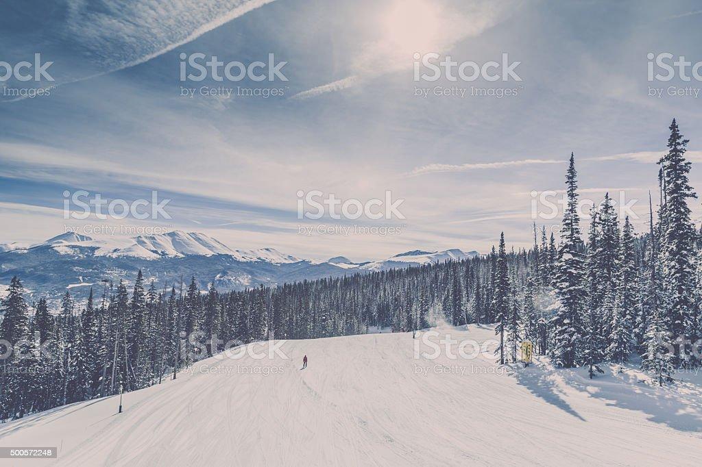 Breckenridge Ski Resort Landscape, Colorado stock photo