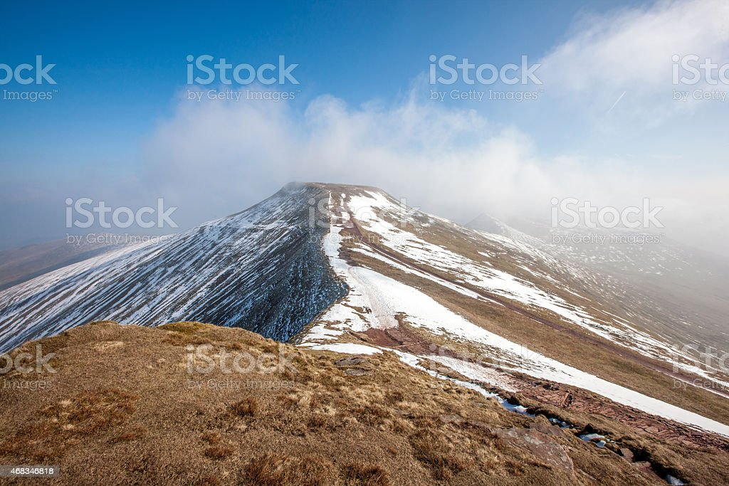 Brecon Beacons highest point at Penyfan royalty-free stock photo