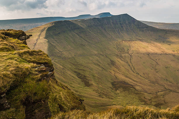 Brecon Beacons The Brecon Beacons, taken from Fan y Big, South Wales. brecon beacons stock pictures, royalty-free photos & images