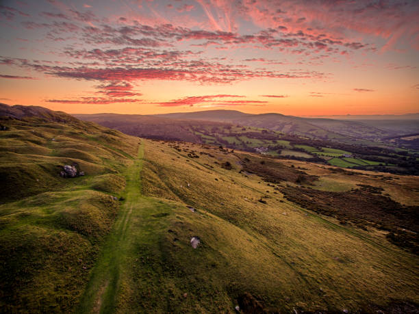Brecon Beacons Sunset stock photo