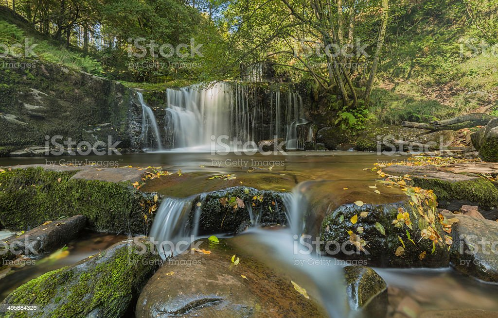 Brecon Waterfall stock photo