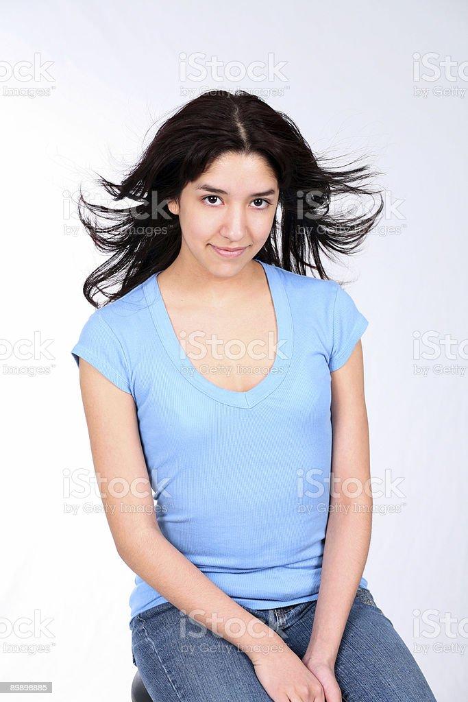 Breezy Latina royalty-free stock photo