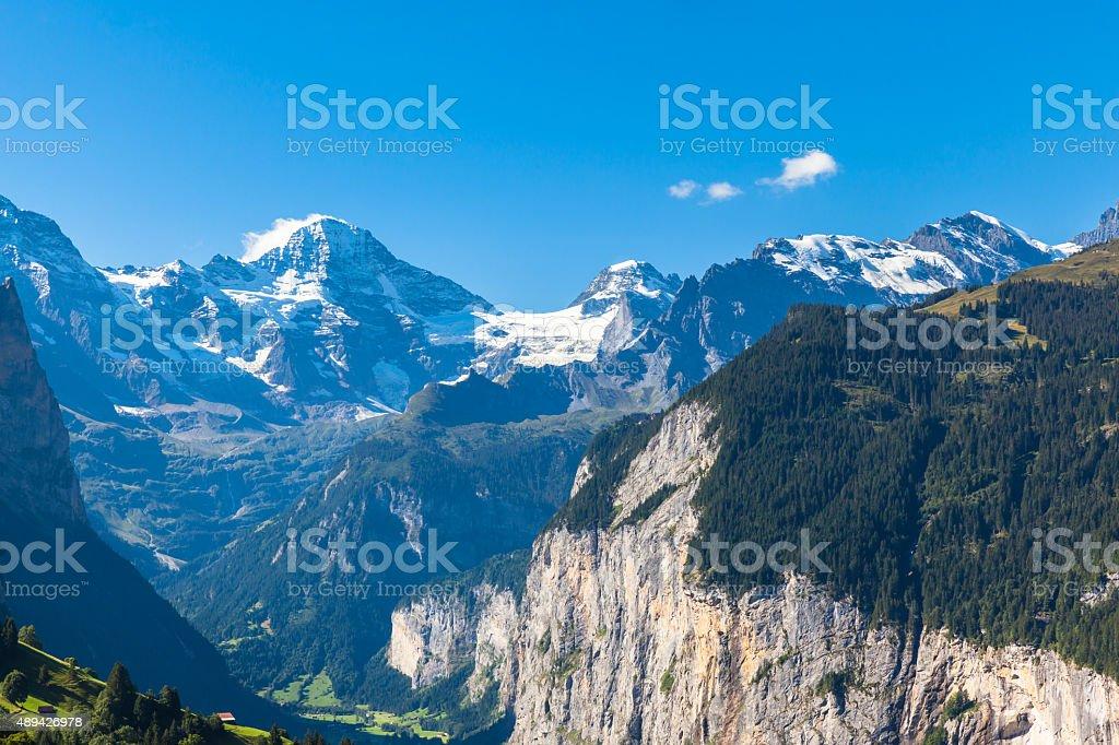 Breithorn and Bernese Alps stock photo