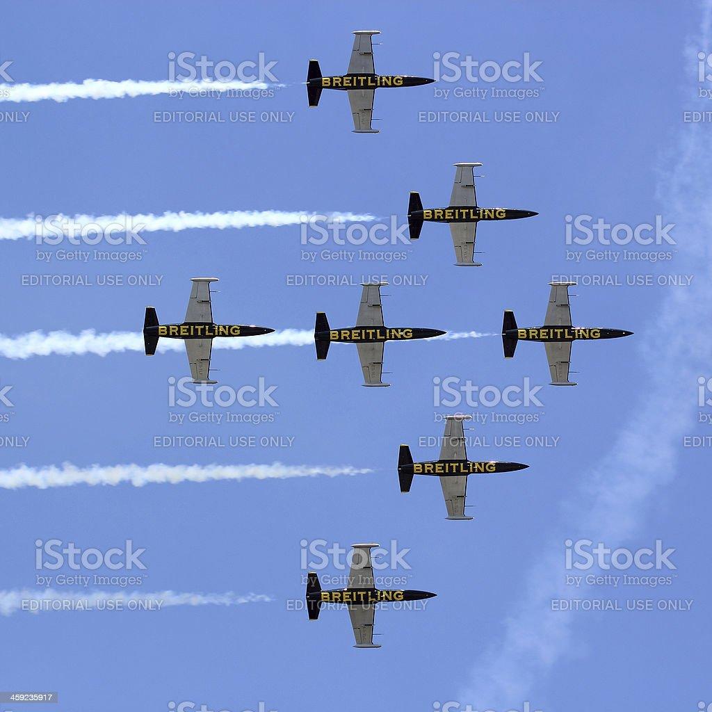 Breitling Jet Team stock photo