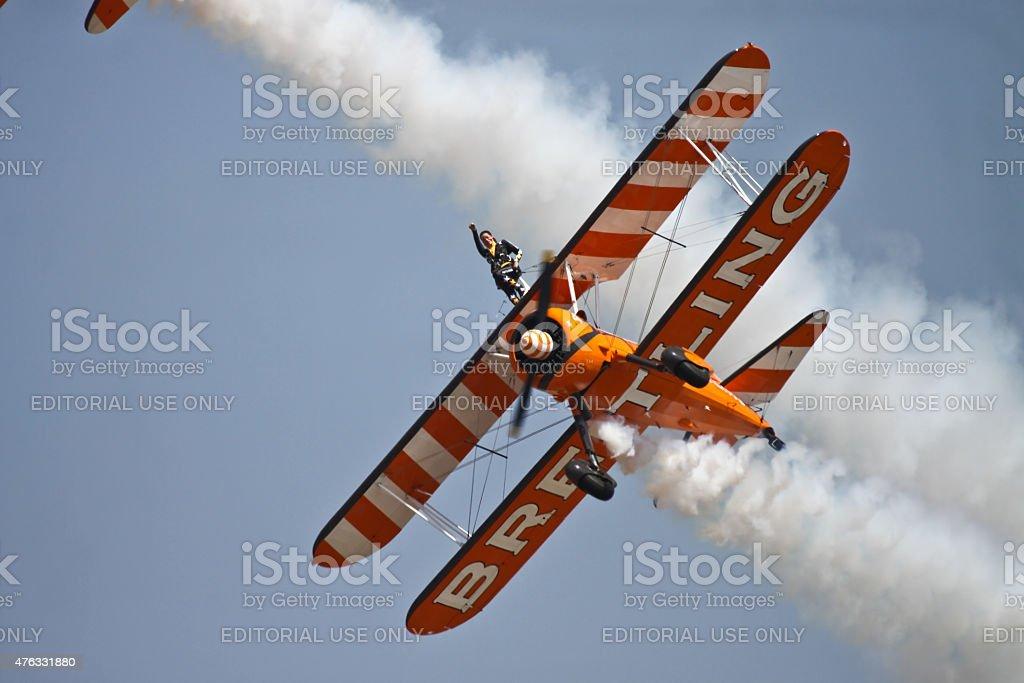 Breitling Wingwalker stock photo