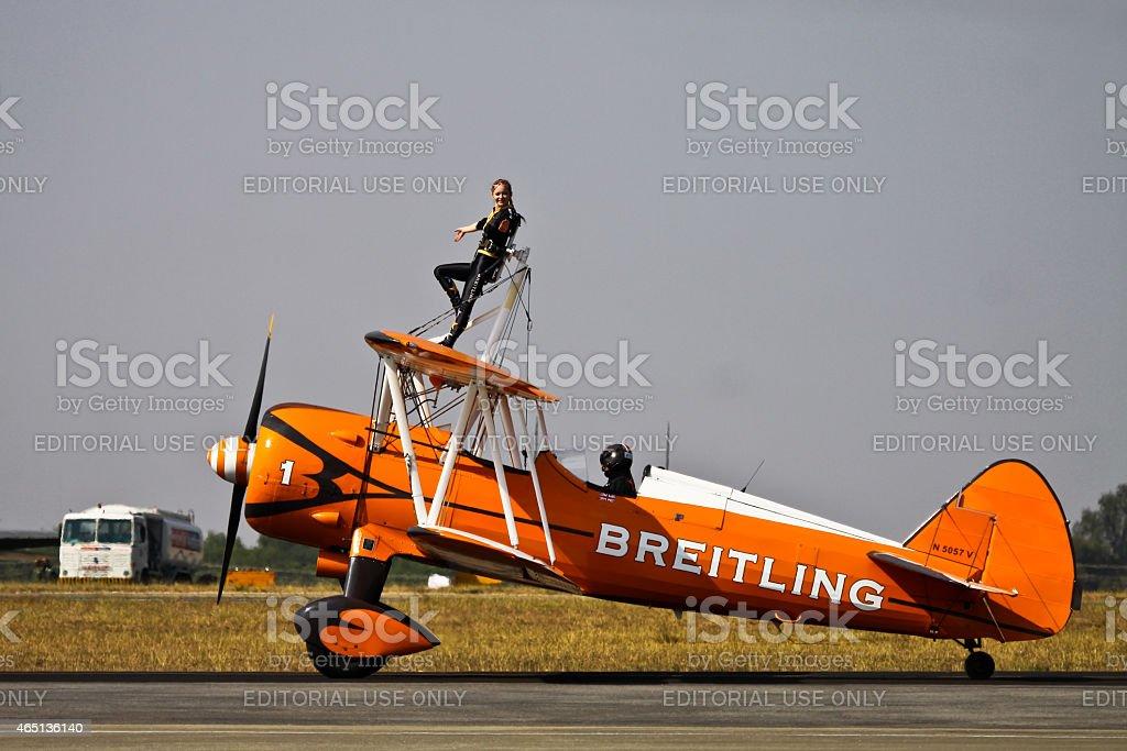 breitling wingwalkers stock photo
