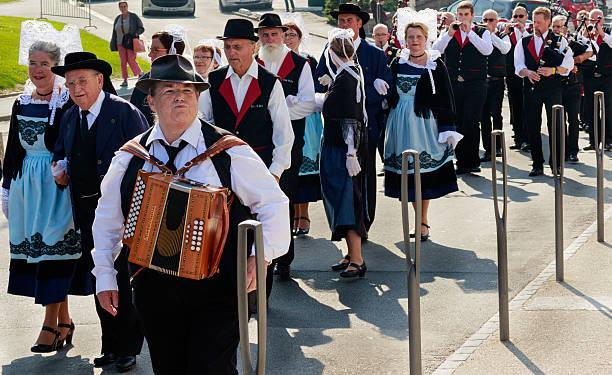 Breizh Parade in Dinard stock photo