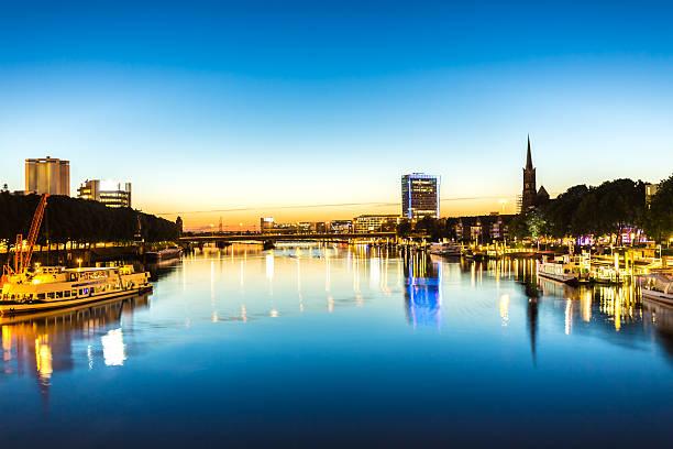 Bremen by sunset stock photo
