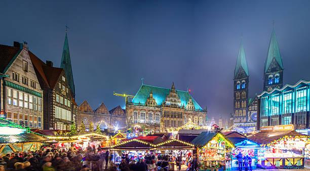 Bremen mercado navideño - foto de stock