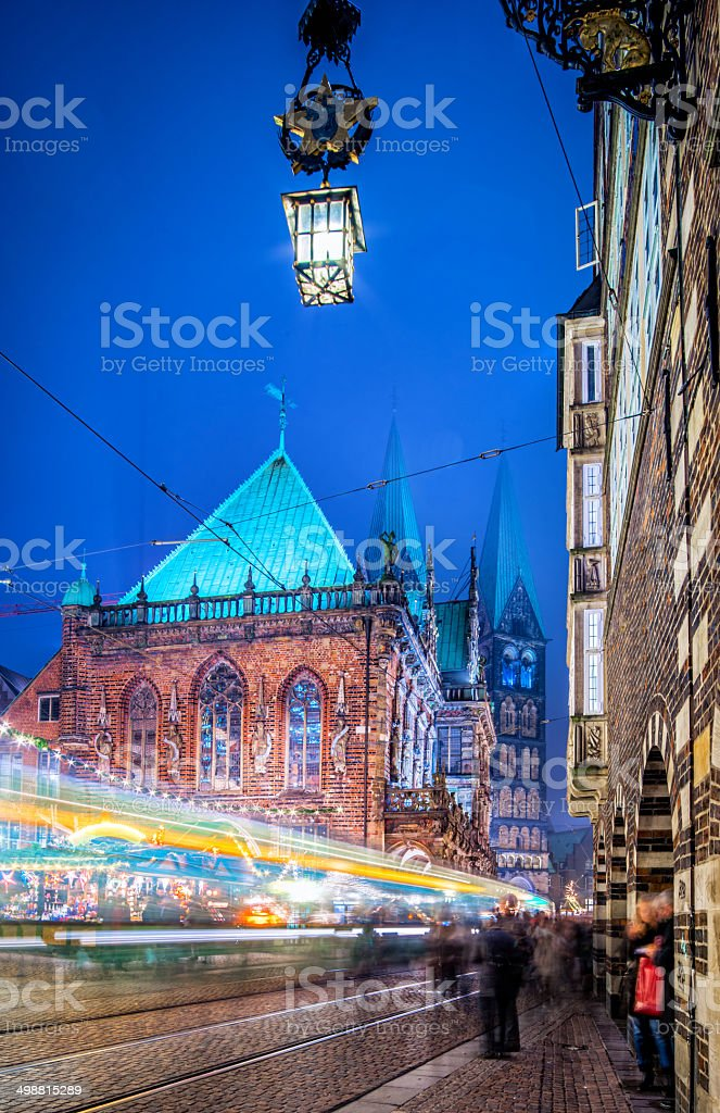 Bremen Downtown during Christmas royalty-free stock photo