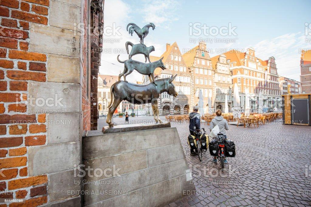 Estatua de músicos de Bremen - foto de stock