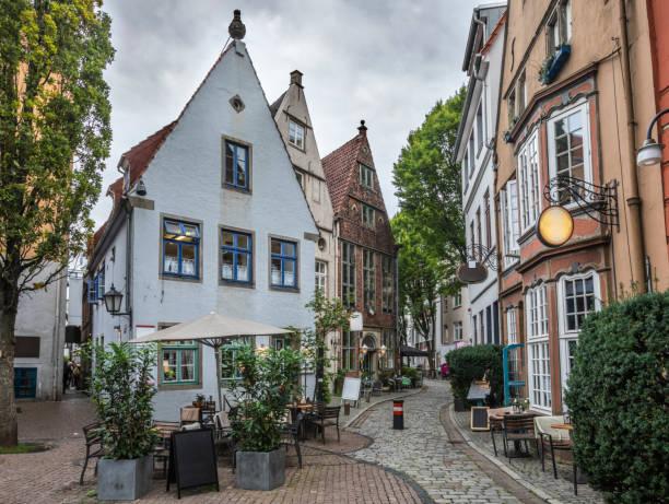 Bremen - barrio Schnoor - foto de stock