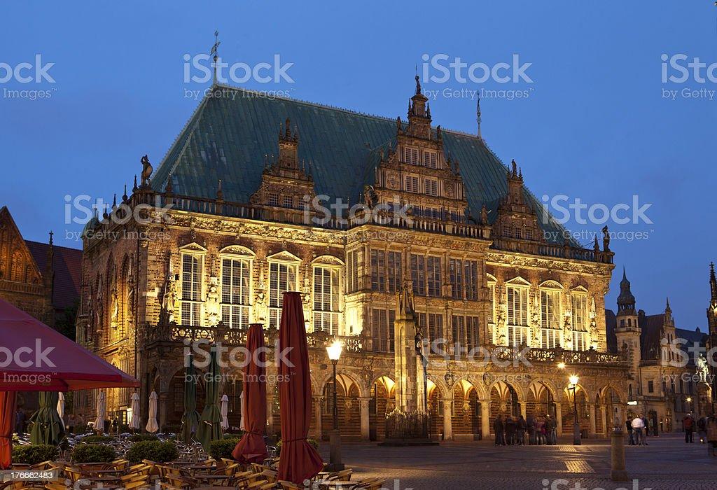 Bremen -Town hall foto de stock libre de derechos