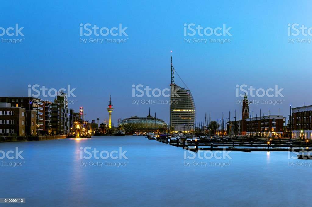 Bremerhaven at blue hour – Foto