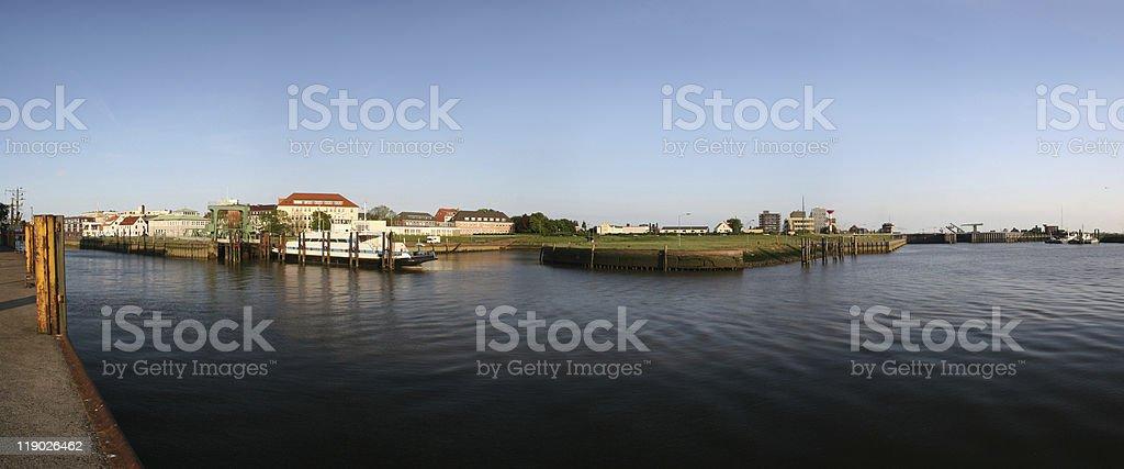 Bremerhaven Geestemündung stock photo