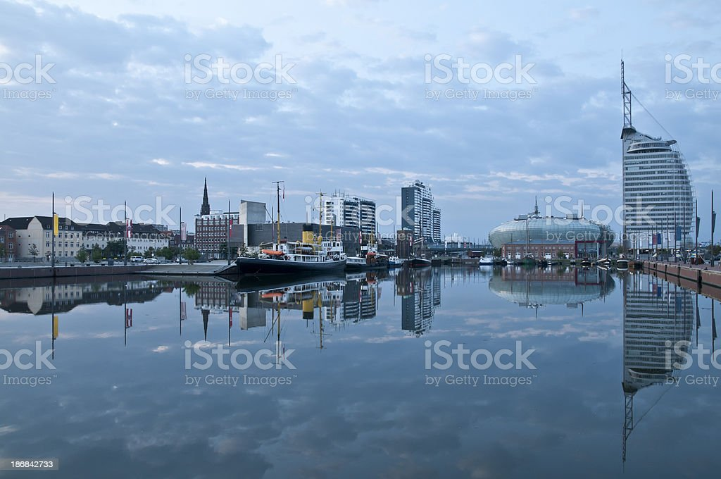 Bremerhaven in the morning stock photo