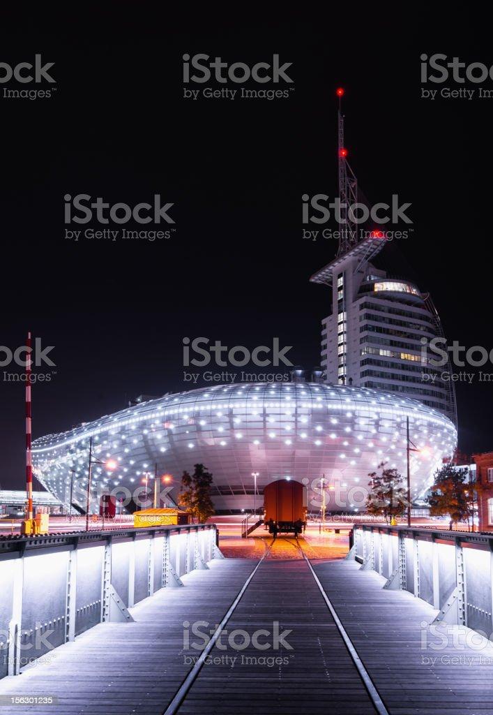 Bremerhaven New Harbour Architecture stock photo