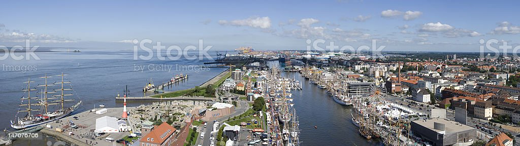 Bremerhaven panorama XXXL royalty-free stock photo